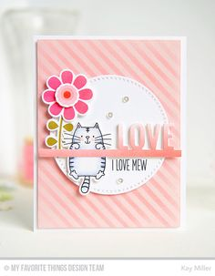 Build-able Blooms, I Knead You, Accent It - Celebrate Die-namics, Build-able Blooms Die-namics, Cross-Stitch Circle STAX Die-namics, I Knead You Die-namics, Diagonal Stripes Stencil - Kay Miller   #mftstamps