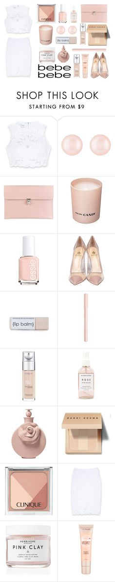 """""""All Laced Up for Spring with bebe: Contest Entry"""" by julia463 ❤ liked on Polyvore featuring Bebe, Henri Bendel, Alexander McQueen, Prada, Essie, Semilla, Bourjois, L'Oréal Paris, Herbivore Botanicals and Valentino"""