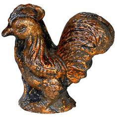 "$6.99 Cast Iron Rooster Statue Figurine Brown 4"" FantasticDecor - Home & Garden Accents"