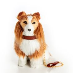 The Queen's Treasures Doll Pet Accessory - Collie Dog with Collar & Leash Collie Puppies, Collie Dog, American Girl Doll Pets, Pet Dogs, Dogs And Puppies, Labradoodle, Collar And Leash, 18 Inch Doll, Doll Accessories