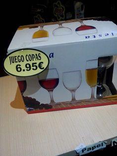 Jacrix en Yecla  te ofrece juego de copas a 6,95 € para las comidas y cenas que vas a celebrar con los tuyos en la Feria de Yecla  a punto de comenzar !!!, pensamos en tu economía, pensamos en tu hogar, pensamos en tí !!!