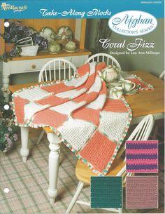 Tricô itens decorativos criações de Coral Fizz Afegãos Colecionador -  /   Coral Fizz Afghan Collector's The Knit Knacks Creations -