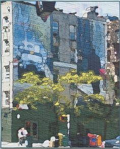Fine Art Quilts by Marilyn Henrion: Blue Wall