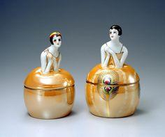 Noritake Flapper Lady Dresser Jar