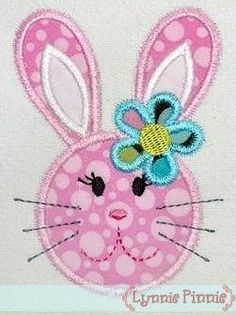 See It All - Bunny Girl Applique 4x4 5x7 6x10 - Welcome to Lynnie Pinnie.com! Instant download and free applique machine embroidery designs in PES, HUS, JEF, DST, EXP, VIP, XXX AND ART formats.