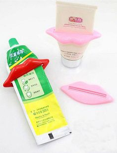 Hot Fashion Idea Sexy Mouth Toothpaste Cosmetics Facial Cleaner Squeezer Dispenser Color Random #Affiliate