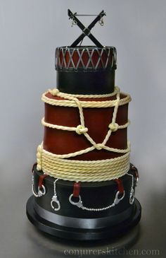 Fetish themed wedding cake