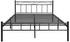 FurnitureKraft London King Size Metal Bed (Glossy Finish, Black): Amazon.in: Home & Kitchen Metal Beds, Black Bedding, Double Beds, King Size, Home Kitchens, It Is Finished, London, Amazon, Full Beds