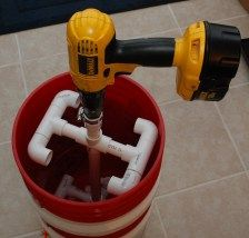 DIY drill powered honey extractor