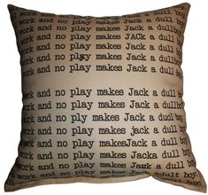 Horror Decor - Dull Boy Pillow - Small and Large