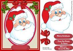 Jolly Santa on Craftsuprint - Add To Basket!