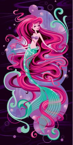 Very colorful Ariel artwork!!!