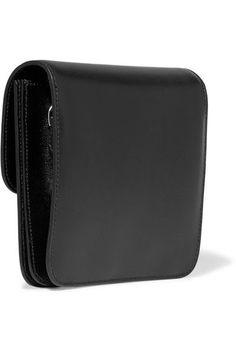 Alaïa - Eyelet-embellished Glossed-leather Shoulder Bag - Black - one size