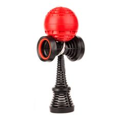 Catchy Air Kendama Black with Red Tama. Inspired by the Elements and Engineered for Performance. Easier Catch with Rubber in Cups. More Grip than Wooden Catchy Street Kendamas. Precise Weight. Perfect Balance.