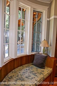 Custom interior  bow window construction in Santa Cruz  by Commons & Burt Builders http://santacruzconstructionguild.us/commons-burt-builders/