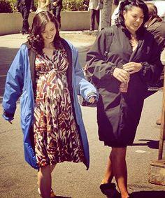 Sara Ramirez e Chyler Leigh, intervalos das gravações .