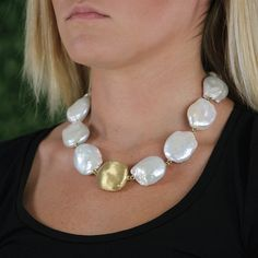 Baroque Freshwater Pearl Necklace by YVEL                                                                                                                                                                                 More