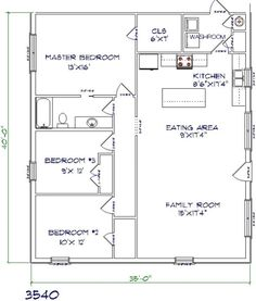 Best Metal Barndominium Floor Plans for Your Inspiration – MAB 30x40 House Plans, Metal House Plans, Pole Barn House Plans, Barn Plans, Small House Plans, Metal Barn Homes, Metal Building Homes, Pole Barn Homes, Building A House