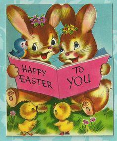 *Vintage Easter card