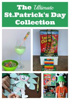 This is an excellent collection of St.Patrick's Day crafts, food, and activities!