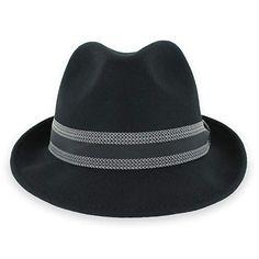 37bda2b704e Hats in the Belfry Striped Trilby Men Women Crushable Wool Felt Fedora Hat  Review Fedora Hat