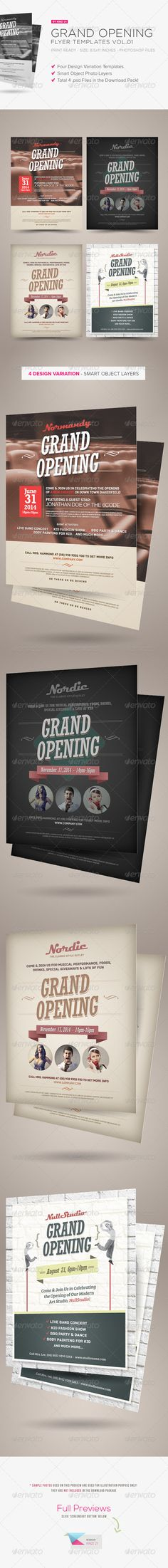 Grand Opening Flyers Vol.01 - you can get the sourcefiles of these flyers here http://graphicriver.net/item/grand-opening-flyers-vol01/5450979?r=kinzi21
