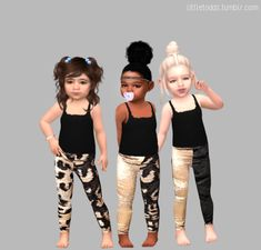 Sims 4 Toddler Clothes, Sims 4 Cc Kids Clothing, Toddler Pants, Toddler Girl Style, Toddler Girl Outfits, Kids Outfits, Toddler Girls, The Sims, Sims Cc