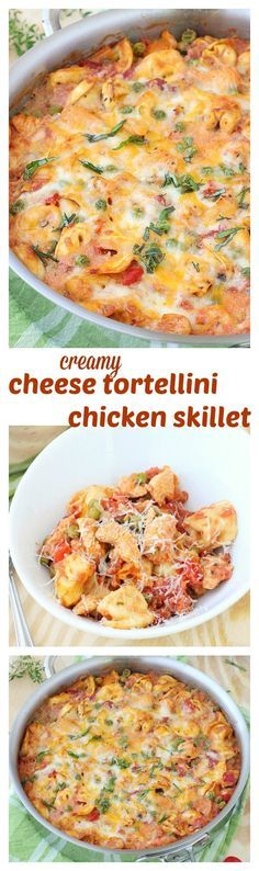 There's something magical about one pot pasta dinners and this creamy cheese tortellini and chicken skillet is the ultimate combination of weeknight convenience and homey comfort food