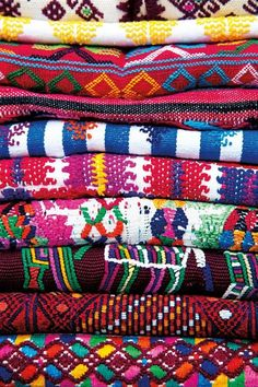 Vibrant Colors Abound in Oaxaca, Mexico : boho textiles Mexican Textiles, Famous Interior Designers, Mexico Culture, Mexico Style, Mexican Designs, Mexican Folk Art, Trendy Home, Mexico Travel, Home Textile