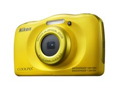 "Nikon Coolpix S33 Waterproof Camera . It's waterproof, shockproof and freeze proof, it's ideal for the beach, the pool, skiing, amusement parks and other bumpy adventures. Full HD video, it can go underwater up to 33 feet deep, withstand drops of up to 5 feet and can play in the snow at temperatures 14° F. Resolution 13.2 MP, LCD 2.7"". http://www.zocko.com/z/JJ5iI"