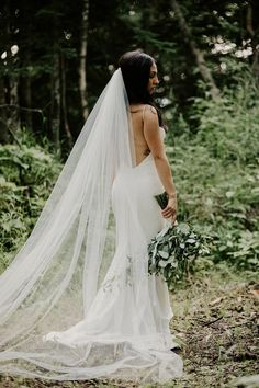 This bride wore an elegant timeless wedding dress. Their wedding photos were in the forest which created a natural vibe. To view more of these forest wedding photos visit Teller of Tales Photography. The Wedding Date, Our Wedding Day, Wedding Couples, Summer Wedding, Wedding Photos, Outdoor Tent Wedding, Wedding Signage, Timeless Wedding, Wedding Songs