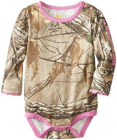 Carhartt Baby-Girls Infant Realtree Camo Long Sleeve
