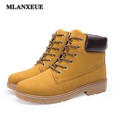 Spring Autumn Fashion Men's Boots Casual Retro Martin Boots High Help Snow Boots Keep Warm Plus Cotton Lace-Up Martin Boots