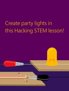Building party lights to understand electrical circuits and switches Stem Activities, Classroom Activities, Electrical Switches, Party Lights, Cabin Fever, Teacher Stuff, Lesson Plans, Circuit, Teaching