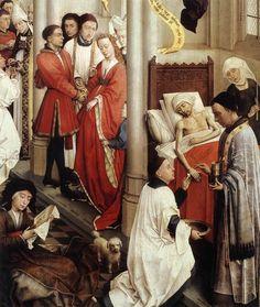 Weyden, Rogier van der (1400-1464) Seven Sacraments Altarpiece (detail) Date: 1445-50