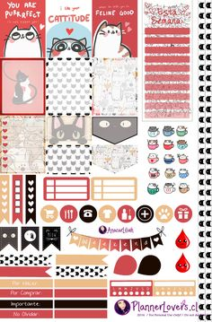 Let's be Miaawwws - Printable Stickers by AnacarLilian