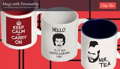 Mugs with Personality - Customised Mugs for Your Daily Cuppa Customised Mugs, Perfect Cup, I Love To Laugh, Buy Shoes, Tea Mugs, Best Brand, Chai, Fashion Online, Fashion Accessories