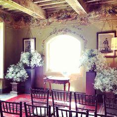 The Ceremony Villa di Stomennano, Tuscany. Wedding Design: Chic Weddings in Italy, Flower Decor: La Rosa Canina