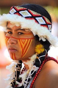 Beleza indígena brasileira 24.donna pataxò in brasile