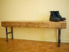 Banc en bois recyclé style industriel par BATHCATT sur Etsy