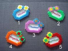 Name Tag - Perler Beads Perler Beads, Perler Bead Art, Fuse Beads, Melty Bead Patterns, Pearler Bead Patterns, Perler Patterns, Beading Patterns, Perler Bead Designs, Hama Beads Design