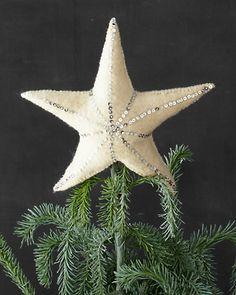 Felt Star Tree Topper from Garnet Hill