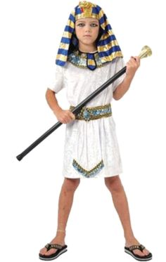 For Purim Children White Egyptian Pharaoh Cleopatra Adult Costumes Halloween Cosplay Costume Egypt Princess Prince Family Party