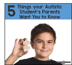 Do you have an autistic child in your class this year? Odds are, you have at least one. As a teacher AND a parent of an autistic child, there are a few things I have learned along the way that I would like to share with you. Some teachers get nervous or worried about seeing...Read More »