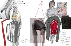 ARTS THREAD Profile - ARTS THREAD Fashion Portfolio Layout, Fashion Design Sketchbook, Fashion Design Drawings, Fashion Sketches, Art Sketchbook, Art Portfolio, Fashion Collage, Fashion Art, Editorial Fashion