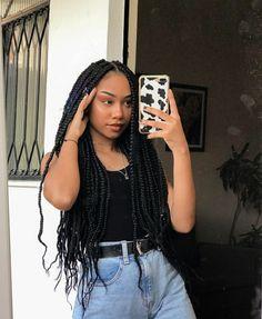 Box Braids Hairstyles, Curly Hair Braids, Afro Braids, Twist Braids, Curly Hair Styles, Cool Hairstyles, Natural Hair Styles, Twists, Selfies