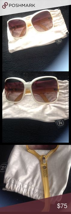 Von Zipper ivory resin DHARMA women's sunglasses Excellent condition von zipper cream/ivory colored resin sunglasses. Comes with cloth case. Super hot for spring or summer. Style is called the dharma. Made in Italy. Like new condition, only worn 1 time. As seen on celebrities like Paris Hilton.  Make an offer. Von Zipper Accessories Sunglasses