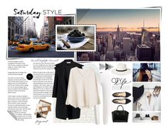 """""""NYCity Style"""" by fashionstudiolondon ❤ liked on Polyvore featuring Janessa Leone, Forever 21, Jil Sander, Givenchy, Basler and MANGO"""