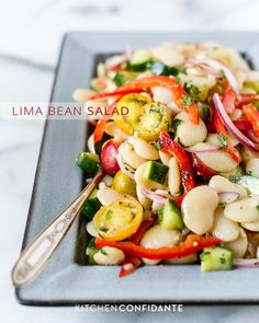 Lima Bean Salad. First we have a nice plateful of this. Then we move on to the dessert tray.