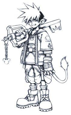 kingdom hearts characters concept art - Buscar con Google